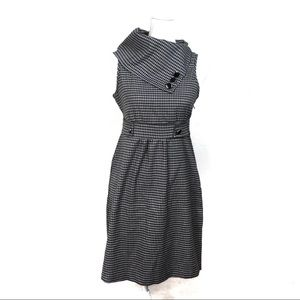 T616 Maurices Houndstooth Black White Dress 5/6